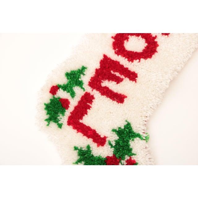 Latch hook noel christmas stocking chairish
