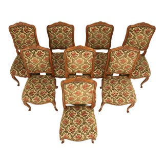 Killer Set of 8 Vintage French Louis XV Style Dining Side Chairs