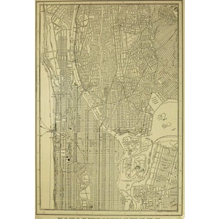 Vintage Map of New York City, 1917