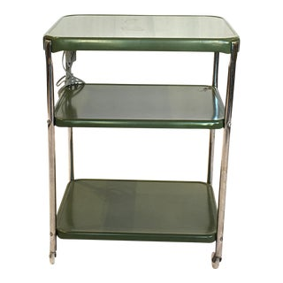 Metal Cosco Rolling Bar Cart