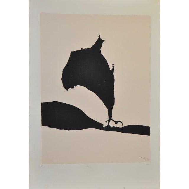 "Image of Robert Motherwell ""Africa No.9"" Silkscreen C.1970"