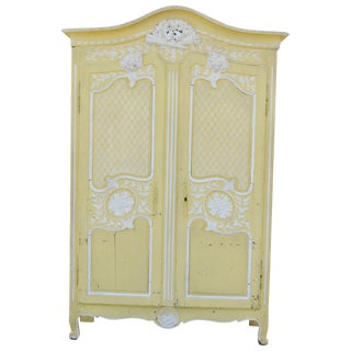 Antique Paint Decorated Armoire