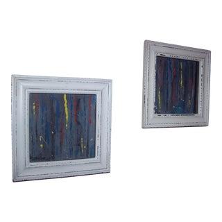 """See the Rain"" Original Paintings - A Pair"