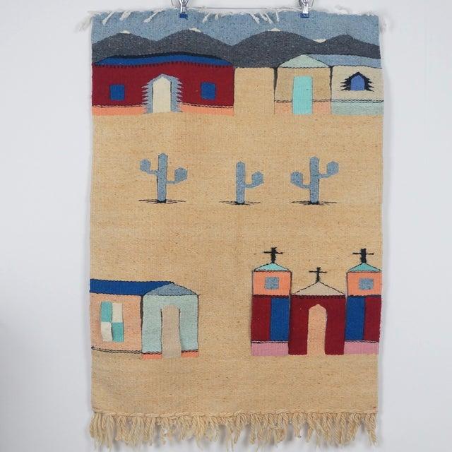 Vintage Fiber Art Southwestern Woven Hanging - Image 2 of 6