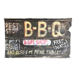 Vintage BBQ Advertising Sign