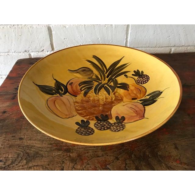 Vintage Pottery Large Shallow Fruit Bowl - Image 2 of 10