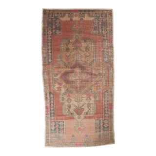 "Vintage Distressed Oushak Rug - 4'6"" x 8'7"""