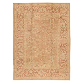 "Modern Turkish Oushak Rug - 10'8"" x 14'4"""