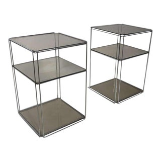 """Pair of Max Sauze 'isocele"""" Side Tables, Groupe S.a"""