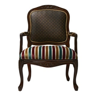 Louis XV Chair with Louis Vuitton Canvas