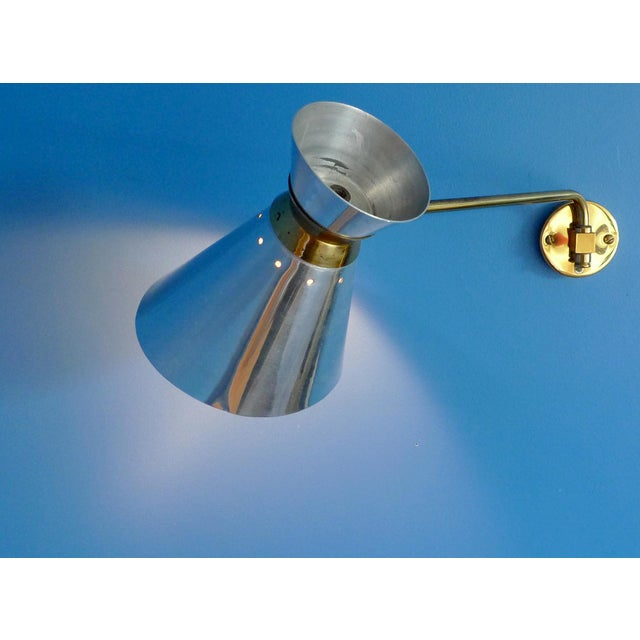 Pierre Guariche Style Adjustable Wall Scones - A Pair - Image 4 of 9