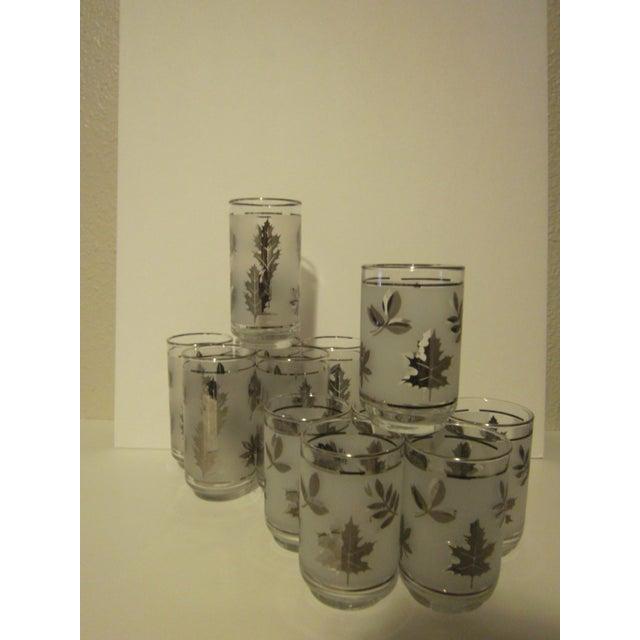 Platnium Leaf Pattern Barware - Set of 12 - Image 2 of 7