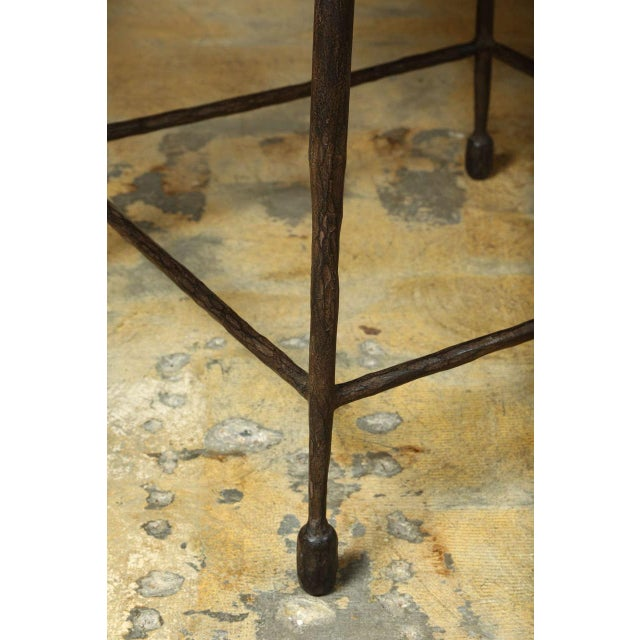 Customizable Paul Marra Iron and Douglas Fir Inset Side Table - Image 3 of 8
