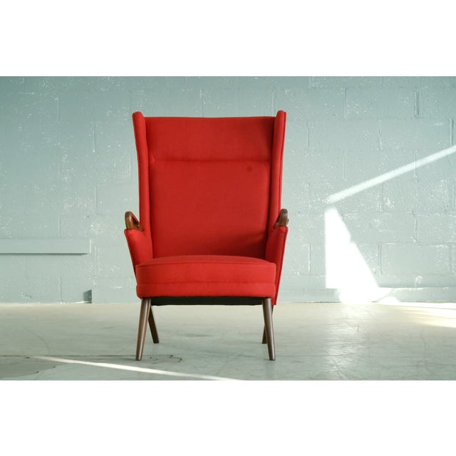 Svend Skipper Attributed 1950s Papa Bear Style Lounge Chair - Image 3 of 8