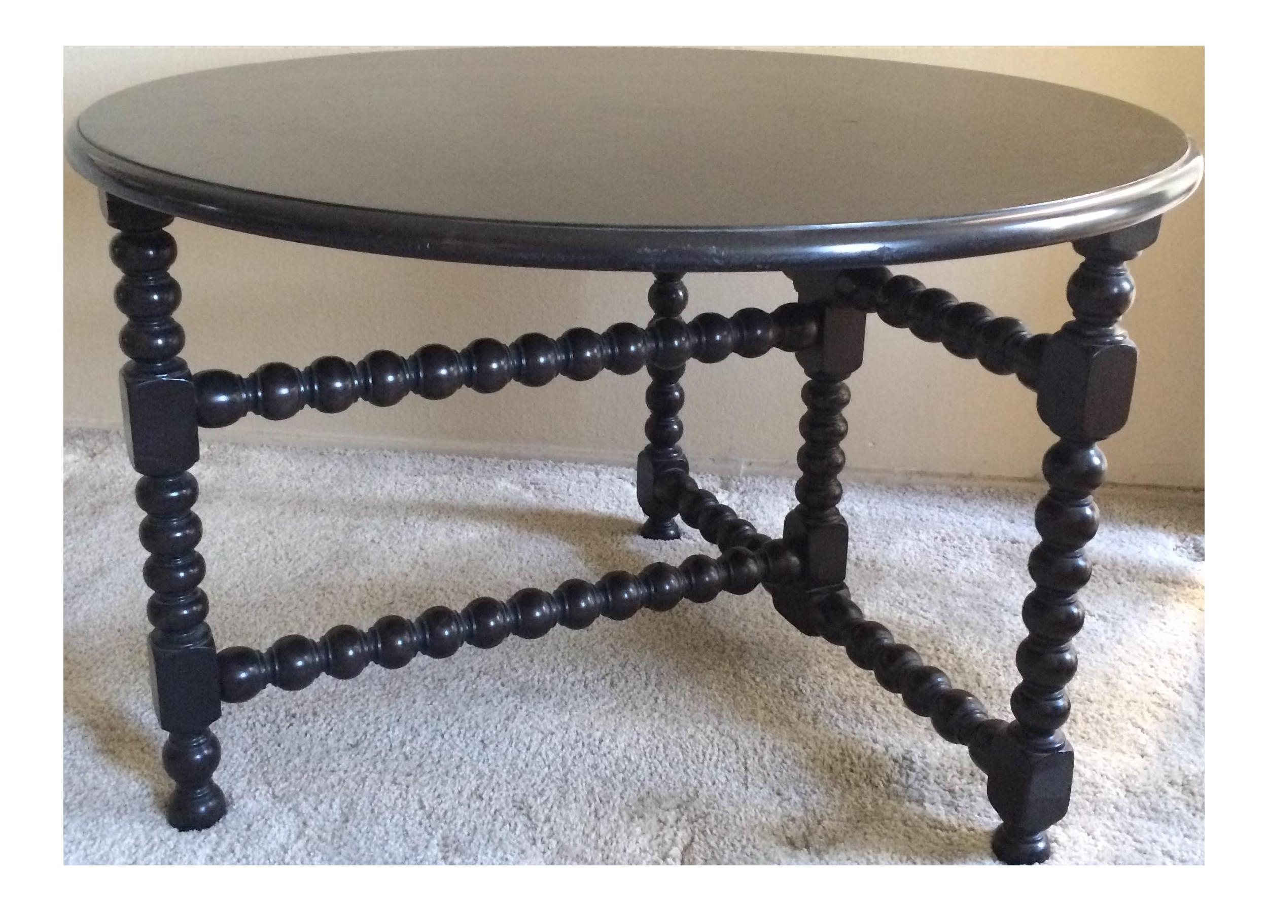large round bobbinleg side table