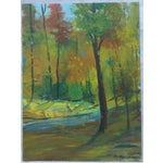 Image of Fall Leaves Painting by H. L. Musgrave