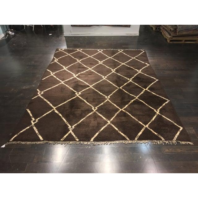 "Image of Organic Moroccan Wool Rug - 9'3"" x 11'4"""