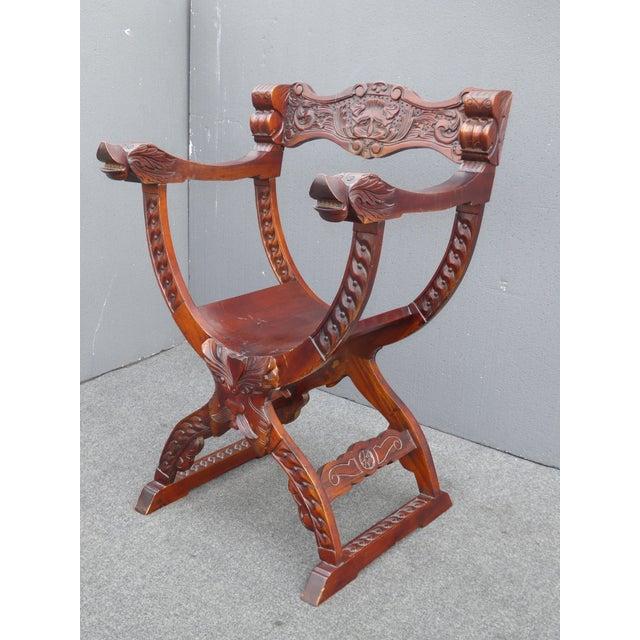 Vintage Asian Style Savonarola Chair - Image 2 of 11