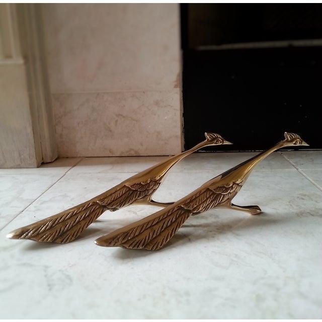 Mid-Century Brass Peacocks - A Pair - Image 8 of 8