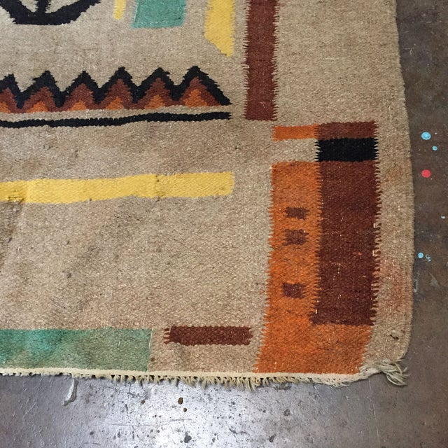 "Vintage Rug Seattle: Vintage Guatemalan Rug Wall Hanging 4'2"" X 6'1"""