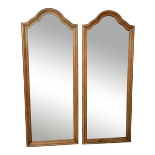Long Solid Wood Mirrors - a Pair