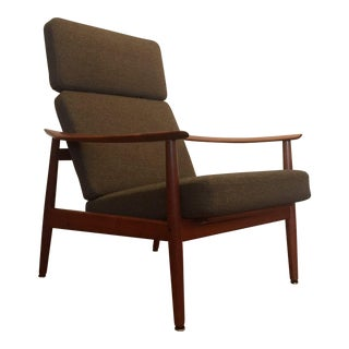 Arne Vodder Fd-164 Reclining Lounge Chair
