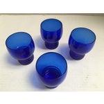Image of Blue Cobalt Mid-Century Cocktail Glasses- S/4