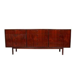 Mid Century Walnut 12-Drawer Dresser / Credenza