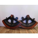 Image of Vintage Large Wood Industrial Foundry Mold Form