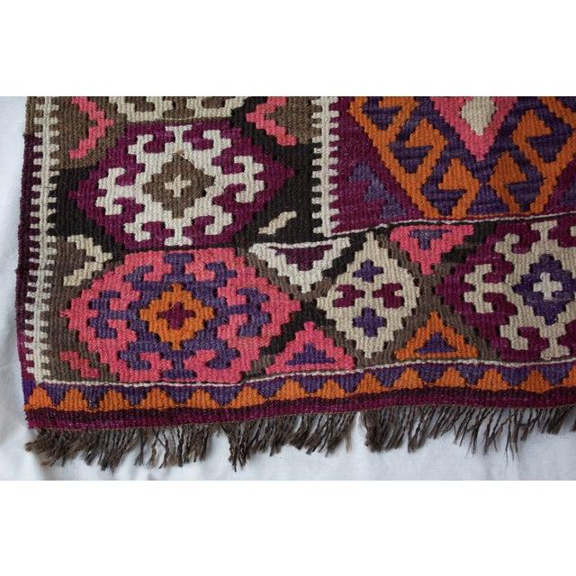 Vintage Kilim Style Rug - 3′ × 4′7″ - Image 5 of 7