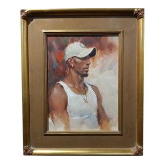 Dan Goozee - Portrait of Michael - Oil Painting