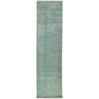 "New Overdyed Hand Knotted Runner - 2'10"" x 7'10"""