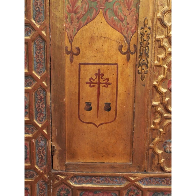 Italian Polychrome Two Door Cabinet - Image 6 of 11