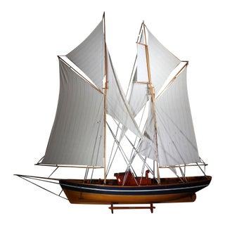 Monumental Wooden Ship Model