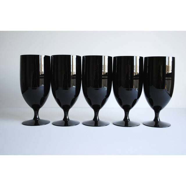 Image of Black Fostoria Glasses - Set of 5