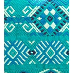 Image of Handwoven Guatemalan Turquoise Pillow