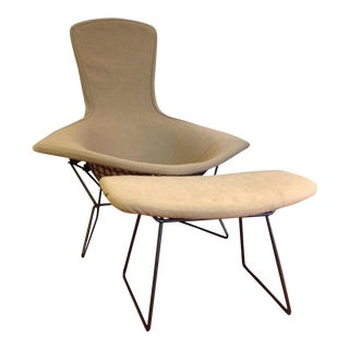 Harry Bertoia for Knoll Bird Chair & Ottoman