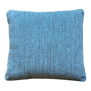 Pair of Bright Turquoise Pillows Made of Chenille