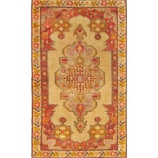 "Vintage Turkish Anatolian Wool Rug - 4'7"" x 7'5"""