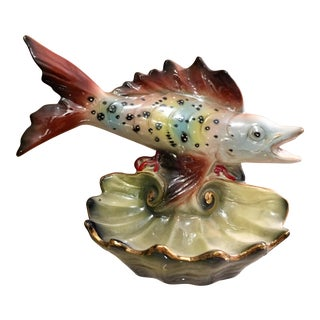 Hollywood Regency Italian Fish & Shell Catchall