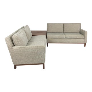 Henredon Sectional Sofa With Corner Storage Case