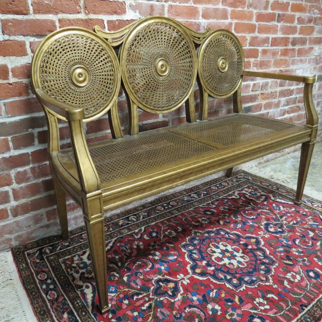 Vintage Gold Bench by Silver Back - Image 6 of 6