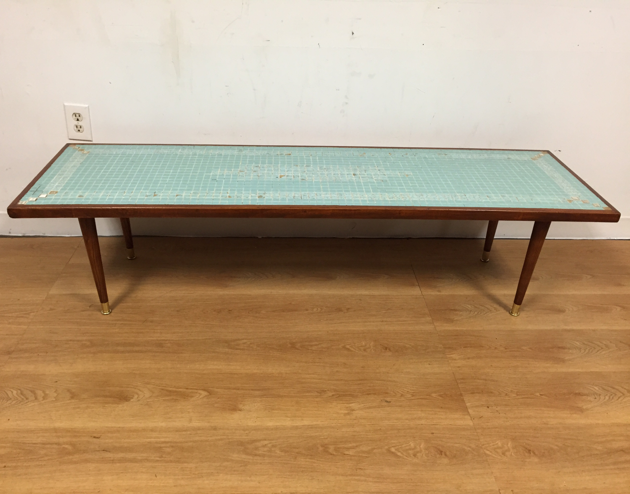 Mid Century Tile Top Coffee Table   Image 2 Of 11