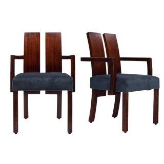 Pair of Vintage Beech Wood Armchairs by Hélène Clemmer Heidsieck
