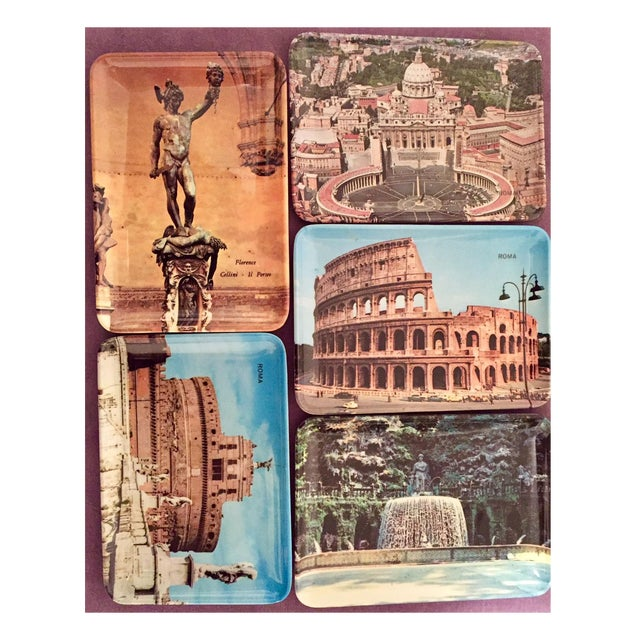 Vintage Mebel Melamine Italian Souvenir Tip Trays - Set of 5 - Image 11 of 11