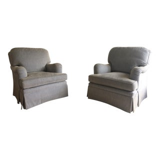 Kravet Upholstered Club Chairs- A Pair