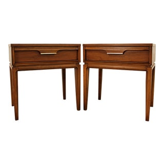 Mid-Century Danish Modern Walnut Basic Witz 'Basicanna' Nightstands - A Pair