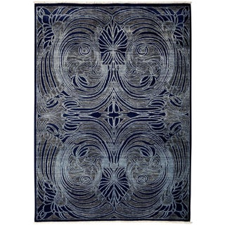 """Shalimar, Hand Knotted Area Rug - 6' 0"""" x 8' 5"""""""
