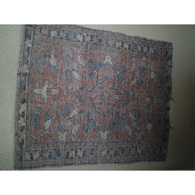 Small Traditional 1900s Red Blue Rug - 2'' x 2'' - Image 8 of 8