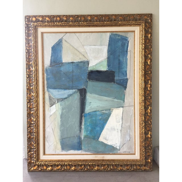 Large Geometric Abstract by Kimberly Moore - Image 2 of 5